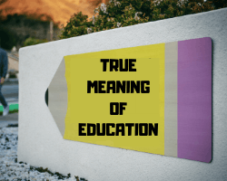 True Meaning of Education